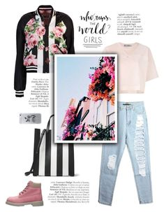 """""""Pink power"""" by little-vogue ❤ liked on Polyvore featuring Michael Kors, Dolce&Gabbana, Timberland, Fifth & Ninth, adidas, Pink, fashionset and polyvorefashion"""