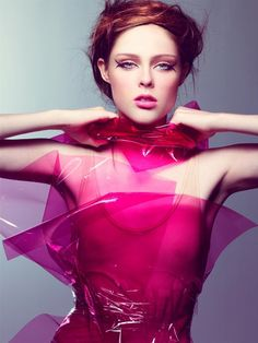 Craig McDean captured these vivid images of Coco Rocha for W magazine.