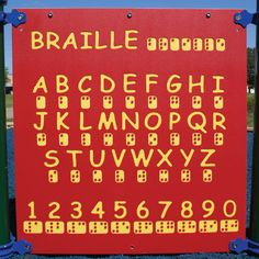 The Braille panel allows even more children to participate in the educational experience of your playground. #components #inclusive