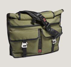 Lieutenant Rolltop Messenger Bag - | CHROME