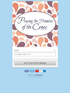 40 Day Praying Promises Cross Challenge