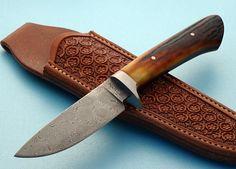 Brion Tomberlin Damascus Hunters | Robertson Custom Cutlery