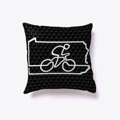 Cycle Pennsylvania Bicycle Gift Pillow #Teespring #PicksPlace