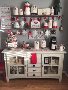 Turn the coffee bar into a Holiday Coffee Experience