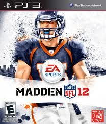 Tebow on the cover of Madden 12.