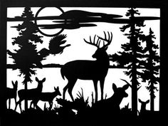 Deer Sunset Rectangle