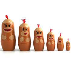 our little Russian monkeys will NEED these sock monkey matryoshka dolls!!!