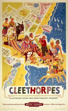 England - Lincolnshire - Cleethorpes, BR (ER) poster, 1960. Poster