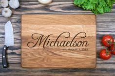 US$35 Chopping Boards, Personalized Cutting Board, Engraved Wood, Wedding Gift, Personalized Gifts (9.5x13.5inches)