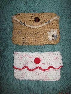 Crochet Plastic Bag Purses by Reyney, via Flickr