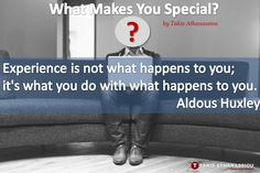 What Makes You Special? - http://takisathanassiou.com/what-makes-you-special/