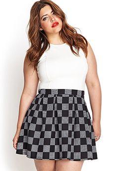 Checkered Skater Skirt | FOREVER 21 - 2000122429