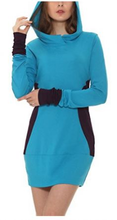 Women's Color Block Slim Fit Casual Pullover Sweatshirt Hoodies >>> Continue to the product at the image link. (This is an affiliate link) Sweatshirt Dress, Sportswear, Dresses For Work, Sweatshirts, Fashion Design, Outfits, Fashion Hoodies, Contrast Color, Armenia