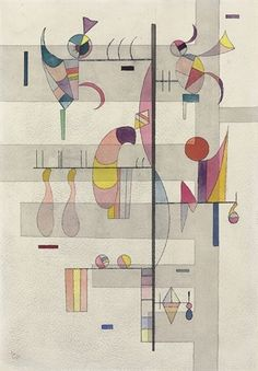 Artwork by Wassily Kandinsky, Distribution, Made of watercolour, pen and india ink and pencil on paper