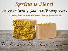 Spring Goat Milk Soap Giveaway - The Freckled Farm
