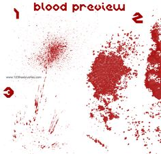 Blood Set One - Download  Photoshop brush http://www.123freebrushes.com/blood-set-one/ , Published in #BloodSplatter, #GrungeSplatter. More Free Grunge & Splatter Brushes, http://www.123freebrushes.com/free-brushes/grunge-splatter/ | #123freebrushes