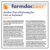 September 4, 2013: Another Year of Rationing for Corn or Soybeans?