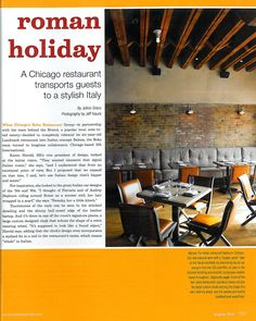 Hospitality Design - August 2012. Project: Balena, Chicago. Design Firm: 555 International. Lighting: Aldo Bernardi #lighting #restaurantdesign