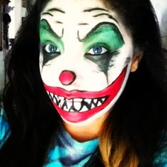Halloween make up idea! Scary clown make up, used most basic make up.