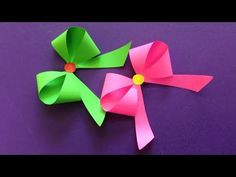 Learn these tips for how to make origami paper crafts to beginner level. Origami is a sort of paper craft that involves folding Single Square of paper into sculpture. Origami is considered an ancient art from Japanese and it… Continue Reading → Origami Ribbon, Easy Origami Flower, Paper Ribbon, Origami Flowers, Paper Flowers, Paper Bows, Origami Dress, 3d Origami, Cool Paper Crafts