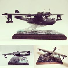 Fantastic!!! PBY-5a Blackcat 1/72 diorama. Modeler Christopher Cundiff ... #Diorama #Miniature #Model #ScaleModel #Vignettes