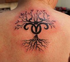 Aries Tree with Flowers – Zodiac Tattoos – Egodesigns