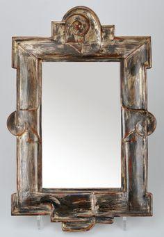 MARGOT STRECKER Mirror, c. 1927, Berlin, 45 x 28 cm     SOLD $1,800 Germany 2011