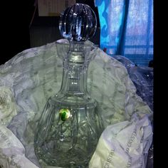 My Waterford Crystal Decanter that I found tucked away in its original packaging on a closet shelf. How did that get there : /