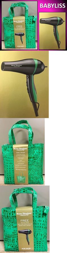 Hair Dryers: Babyliss Pro 2000 Watt Nano Titanium Hair Blow Dryer Green Stripe Croc Tote Bag -> BUY IT NOW ONLY: $54.56 on eBay!