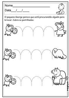 ATIVIDADES DE EDUCAÇÃO INFANTIL  E MUSICALIZAÇÃO INFANTIL: Maternal - Atividade com a Peppa