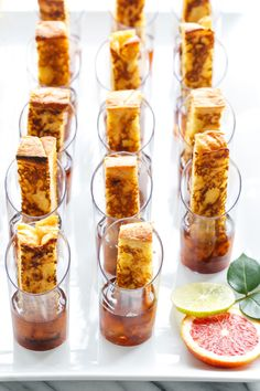 Brunch party inspiration: Bourbon French Toast & Maple Syrup Shooters