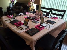 My lovely set up for a Mary Kay Facial Party!!! www.marykay.com/dkloster