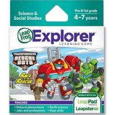 LeapFrog Explorer Learning Game Transformers Rescue Bots