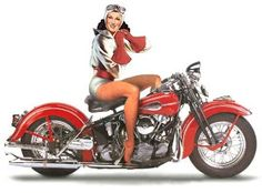 Harley-Davidson Pin Up Girls Harley Davidson Kunst, Harley Davidson Posters, Harley Davidson Motorcycles, Motorcycle Posters, Motorcycle Style, Motorcycle Clubs, Art Moto, Cafe Racer Girl, Bike Art