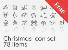 """다음 @Behance 프로젝트 확인: """"Free Christmas icon set"""" https://www.behance.net/gallery/31536231/Free-Christmas-icon-set"""