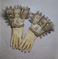 bejeweled gloves.