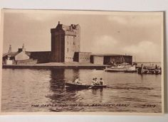 Broughty Ferry Harbour where the train ferry from Tayport user to dock with Broughy Ferry Castle in background. Online Scrapbook, Dundee, Family History, Fishing, Castle, Train, City, Amazing, Painting