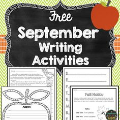 September Writing Activities   Need some ideas for September in the classroom? Here are some ideas and a few fun writing activities! They include a Labor Day writing activity a Fall Haiku an Apple Five Senses poem and a September Acrostic poem. Thanks for looking! Christina  2nd grade 3rd grade 4th grade Fall Fall fun activities labor day September