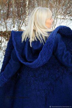 Купить Пальто валяное зимнее Сердце океана в интернет магазине на Ярмарке Мастеров