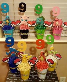 Pokemon Party Centerpieces by MythicalByNaomi on Etsy