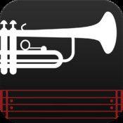 Arban Study No. 1 - Advanced Trumpet and Cornet Practice. Denne app'en lar deg øve i ulike tempi. Det later til at flere app'er med samme konseptet er på vei. Se også http://www.webpractice.co.uk