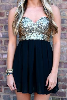 Glitter bustier dress