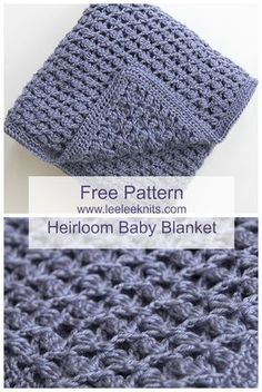 Crochet Baby Patterns Free Heirloom Baby Blanket Crochet Pattern - Free baby blanket crochet patterns – If you know how to crochet or are just learning how to crochet. Stitch Crochet, Crochet Motifs, Crochet Stitches, Crochet Hooks, Knit Crochet, Crochet Afghans, Baby Afghan Crochet Patterns, Baby Patterns, Patron Crochet