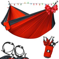Amazon.com  Legit Camping - Double Hammock - Lightweight Parachute Portable  Hammocks for Hiking 6d6dff94497b