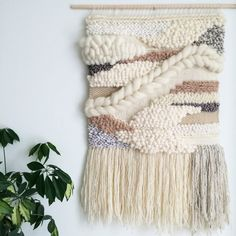 Woven Wall Hanging / Handmade Woven Tapestry by JessHotsonTextiles