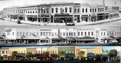 Main Street, Red Bluff CA store fronts through the years.