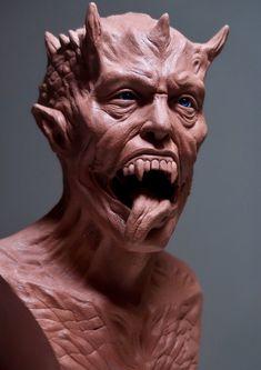 Zbrush, Horror, Lion Sculpture, 3d, Portrait, Statues, Sculpture, Fotografia, Dekoration