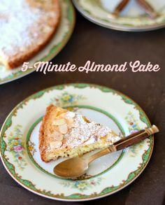 5-Minute Almond Cake
