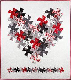 "~ tutorial ~ ""I Love Paris"" twister quilt, 58 x 64"",  at First Light Designs"