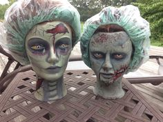 Zombie mannequin heads by Natasha Cole